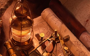 Wallpaper map, lantern, adventure, device