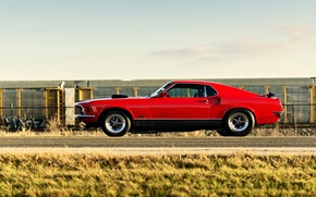 Picture Mustang, red, Ford, ford mustang, muscle car, rechange, mach 1, lunchbox photoworks
