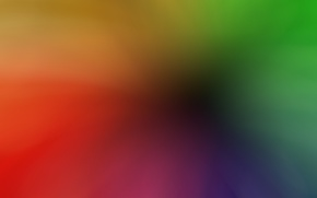 Picture blue, red, abstraction, yellow, green, smooth transitions, colorful solid background