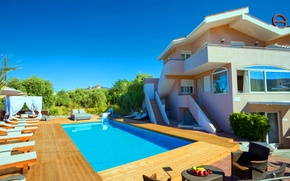 Picture house, Villa, pool, view, hotel, Cover