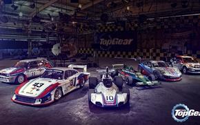 """Picture Top Gear, Porsche 935/78 """"Moby Dick"""", Brabham BT44, Porsche 911 GT3 Cup, Ford Focus WRC, …"""