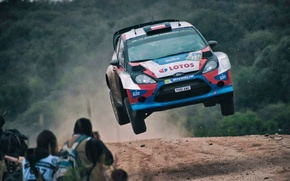 Picture jump, ford, rally, wrc, fiesta, lotos, robert kubica