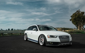 Picture audi, white, tuning, before