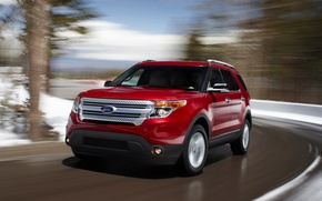 Picture red, ford, Auto, explorer