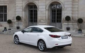 Picture Auto, White, The building, Mazda, Car, Room
