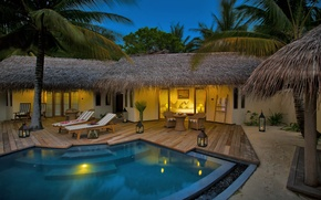 Picture pool, terrace, Bungalow