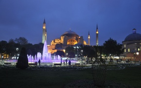 Picture night, the city, fountain, Istanbul, Turkey, Istanbul, Turkey