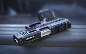 Picture gun, background, Glock 19, self-loading