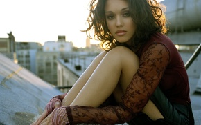Picture sunset, on the roof, jessica, alba