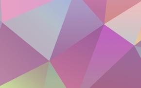 Wallpaper Wallpaper, color, geometry, the volume, figure, triangle