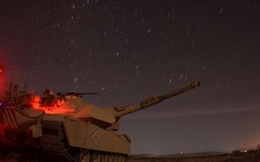 Wallpaper night, stars, tank