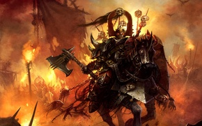 Wallpaper warrior, Warhammer, knight, chaos, the champion of Khorne
