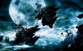 Picture fiction, Earth, destruction, chaos
