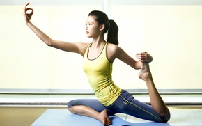 Picture Girl, yoga, Asian