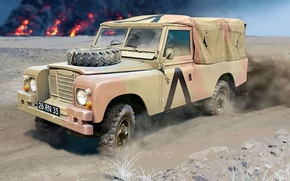 Picture figure, art, UK, Land Rover, easy English armored