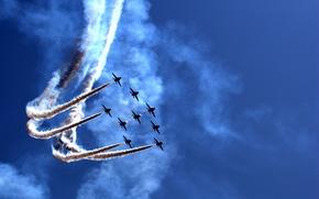 Wallpaper holiday, show, parade, aircraft, Airily show, air, parade