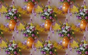 Picture summer, flowers, background, bouquet, texture