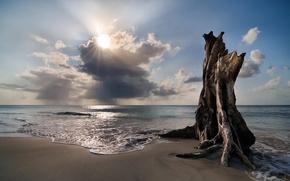 Picture beach, the sky, clouds, surf, Nicaragua, Islas De Maiz