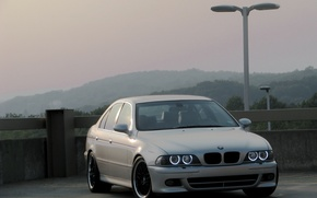 Picture BMW, lights, E39, angel eyes, E39, Boomer, silver, Silver, Angel Eyes, BMW