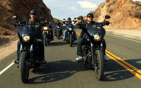 Picture road, bikers, Moto, sons of anarchy, SOA