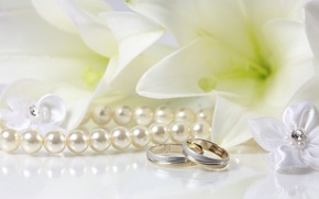 Picture Lily, ring, pearl, wedding