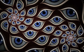 Picture eyes, abstraction, blue, color