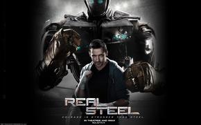 Wallpaper Hugh Jackman, Real steel, real steel