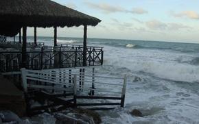 Picture beach, sea, ocean, landscape, nature, stone, water