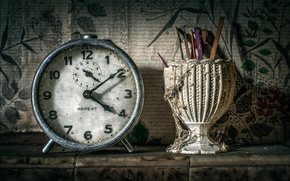 Picture watch, dust, vintage