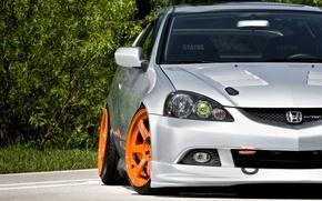 Picture auto, tuning, emblem, honda, Honda, rays, casting, Integra, integra, volk racing, i-vtec, dc5