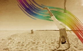 Picture Beach, Positive, Smile, Wave, Color, Male
