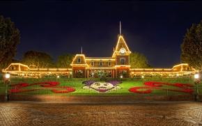 Wallpaper Christmas, Christmas, Disneyland, Disneyland