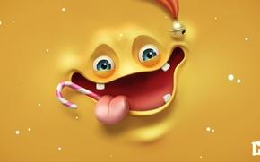 Picture language, face, Lollipop, smile, render, melaamory, fun