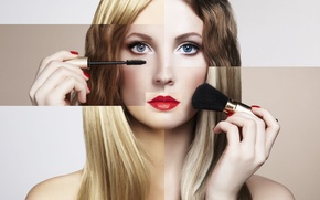 Picture girl, makeup, beautiful, bright