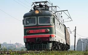 Picture summer, rails, train, locomotive