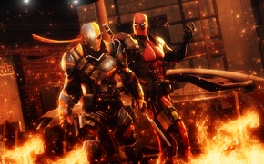 Wallpaper deadpool, deathstroke, Slade Wilson, anti hero