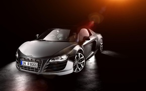 Picture Audi, Audi, before, silver, Blik, front, silvery
