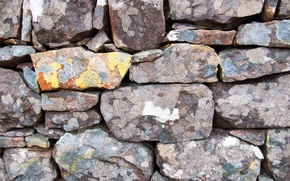 Picture stones, wall, texture, stones