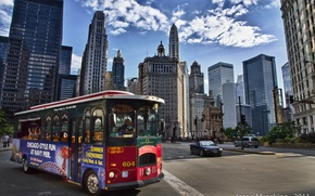 Picture Chicago, bus, USA, tour.
