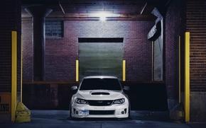 Picture garage, composition, subaru, impreza, Subaru, garage, sti, Impreza