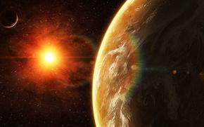 Picture star, sun, planet