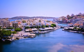 Picture the city, Bay, boats, Greece, tilt-shift, tilt-shift