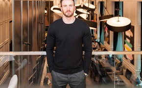 Picture actor, male, sweater, Chris Evans, Chris Evans