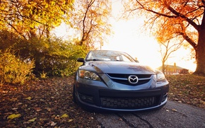 Picture Mazda, black, front, Mazda, 3 speed