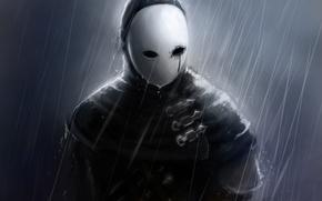 Picture rain, male, mask, Dark Souls, art