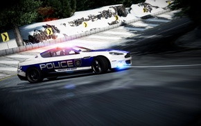 Picture Aston Martin, Winter, DBS, Speed, Police, Skid, UK, Police, Photoshop, Aston Martin, Forza 4, Strobe …