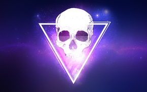 Picture Skull, Space, star, Texture, dead, triangle