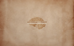 Picture meaning, the inscription, minimalism, brain, the phrase, opinion