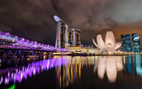 Picture night, the city, Singapore, the hotel