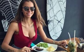 Wallpaper girl, model, beauty, Victoria Odintsova, Winter Odintcova